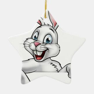 Cartoon Easter Bunny Rabbit Ceramic Star Decoration