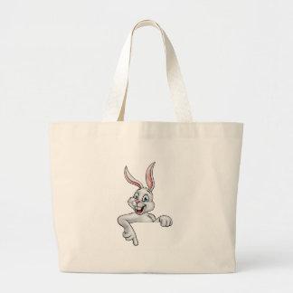 Cartoon Easter Bunny Rabbit Large Tote Bag