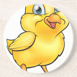 Cartoon Easter Chick Drink Coasters