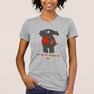 Cartoon Elephant Basketball Player Tee Shirt