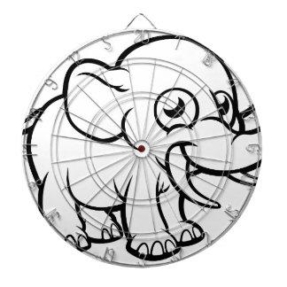 Cartoon Elephant Character Dartboard