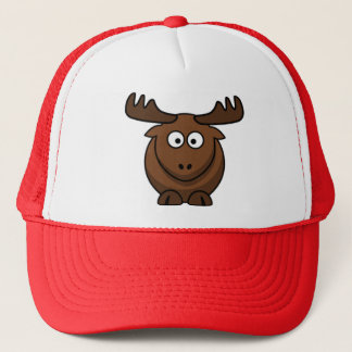 Cartoon Elk Reindeer Cap