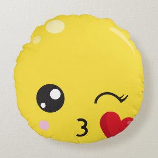 Cartoon Emojis Round Cushion