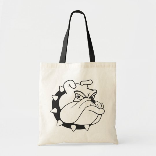 Cartoon English Bulldog Puppy Dog Mascot Tote Bag