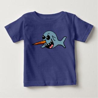 Cartoon evil Narwhal shirt