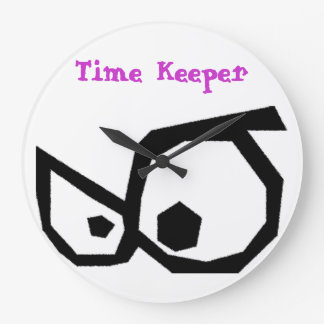 Cartoon Eyes Time Keeper Wall Clock