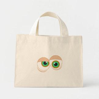 Cartoon eyes tote bags
