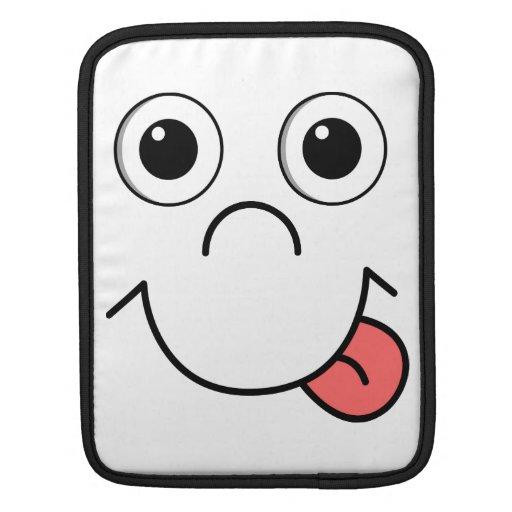 Cartoon face sleeve for iPads