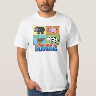 Cartoon Farm Animal - I'd rather be farming! Shirts