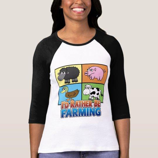 Cartoon Farm Animals - I'd rather be farming!