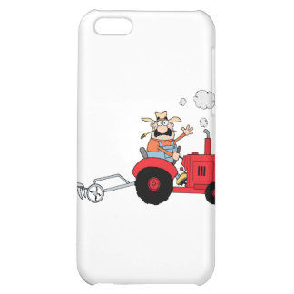 Cartoon Farmer Driving A Red Tractor Cover For iPhone 5C