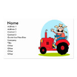 cartoon farmer riding a red tractor pack of standard business cards
