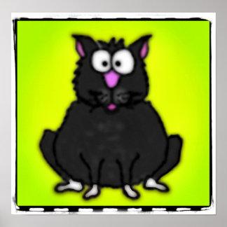 Cartoon Fat Cat Poster