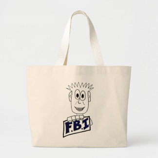 Cartoon FBI Agent Canvas Bag