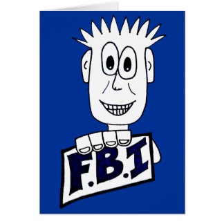 Cartoon FBI Agent Card