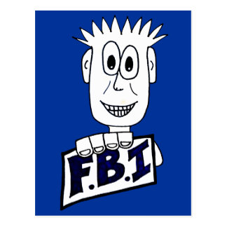 Cartoon FBI Agent Postcard