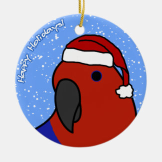 Cartoon Female Eclectus Christmas Ornament