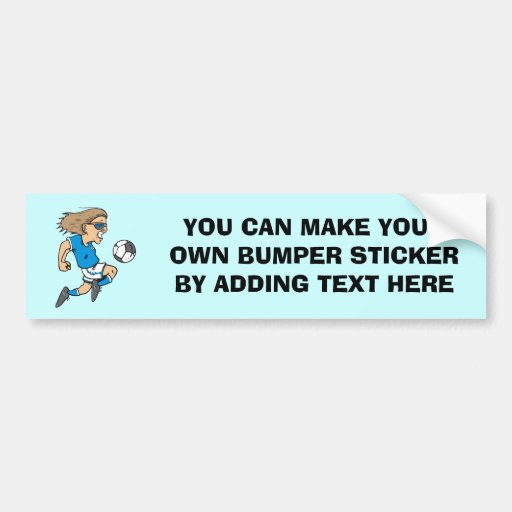 Cartoon Female Soccer  Star T-shirts and Gifts Bumper Sticker