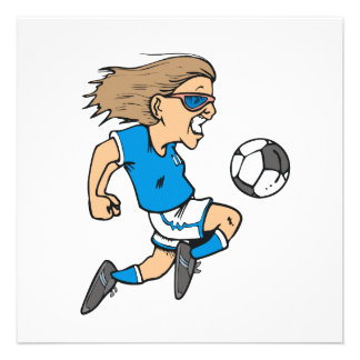 Cartoon Female Soccer Star T-shirts and Gifts Announcement