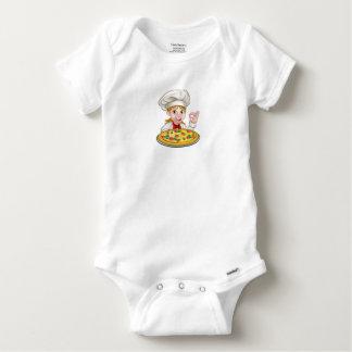 Cartoon Female Woman Pizza Chef Baby Onesie