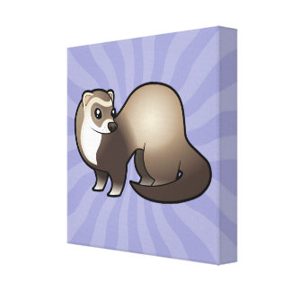 Cartoon Ferret Canvas Print