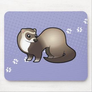 Cartoon Ferret Mouse Mat