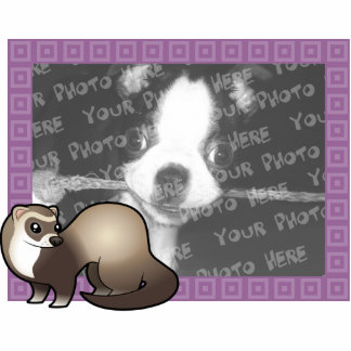 Cartoon Ferret Photo Frame Photo Sculpture Magnet