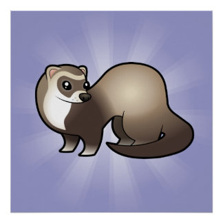 Cartoon Ferret Poster