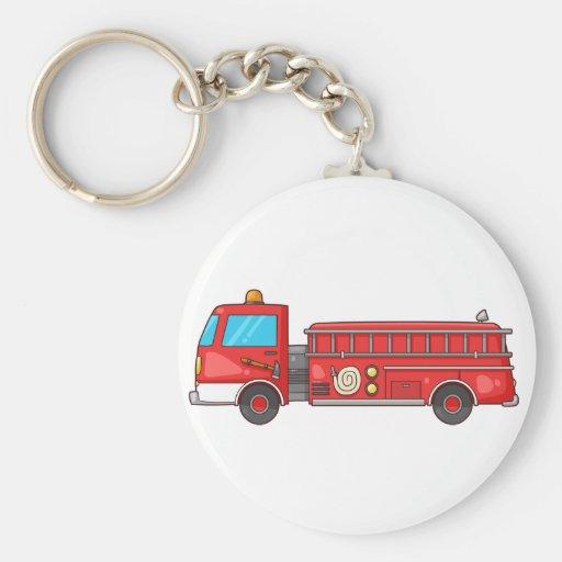 Cartoon Fire Truck/Engine Keychain
