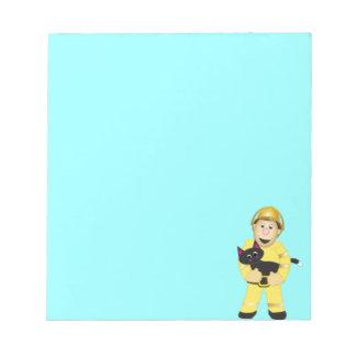 Cartoon Fireman Notepad