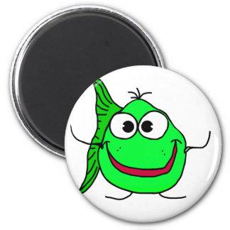 Cartoon fish 6 cm round magnet
