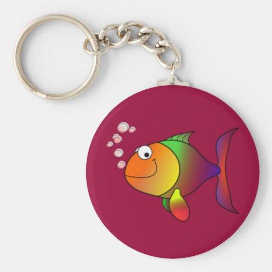 Cartoon Fish Key Ring