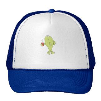 Cartoon Fish With Bubbly Soda Trucker Hat