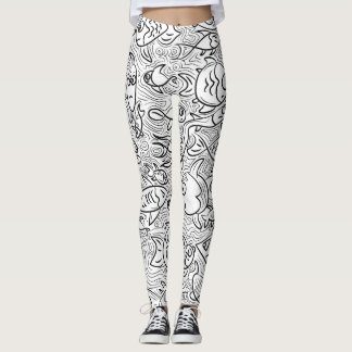 Cartoon fishes design leggings