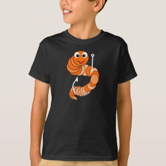 Cartoon Fishing Worm T-Shirt