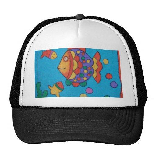 Cartoon fishy! mesh hats