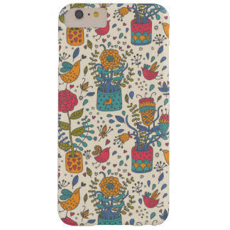 Cartoon floral pattern with birds 2 barely there iPhone 6 plus case
