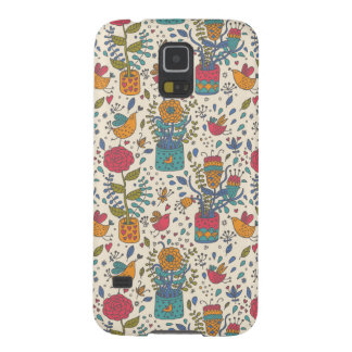 Cartoon floral pattern with birds 2 case for galaxy s5