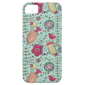 Cartoon floral pattern with birds case for the iPhone 5