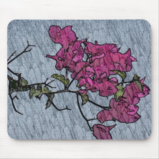 Cartoon Flower Mouse Pad