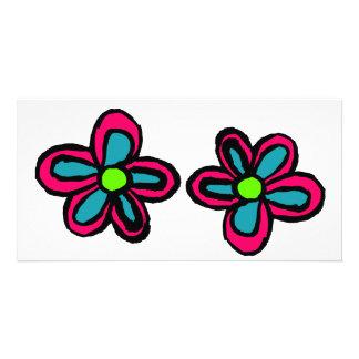Cartoon Flower Customised Photo Card