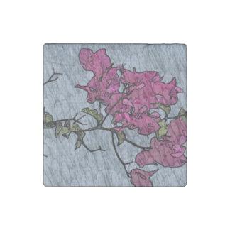 Cartoon Flower Stone Magnet