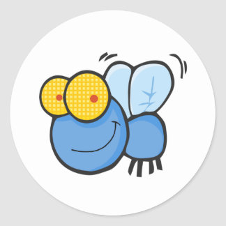 Cartoon Fly Classic Round Sticker
