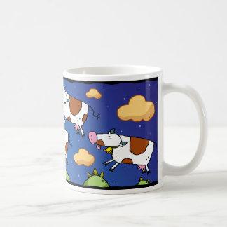 Cartoon Flying Cows Mug