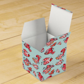 Cartoon Flying Love Hearts 2 Paper Box Party Favor Box
