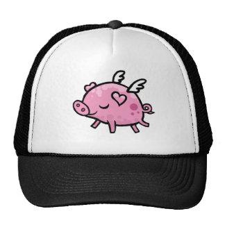 Cartoon Flying pig Cap