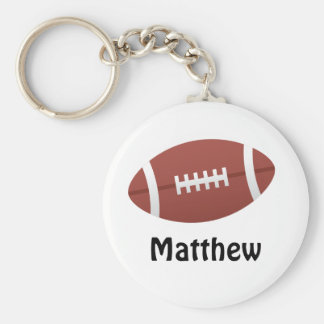 Cartoon football personalized name custom key chains