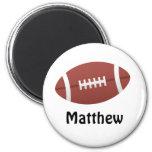 Cartoon football personalized name custom magnet