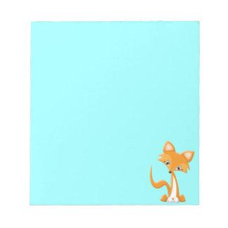 Cartoon Foxy Fox Notepad