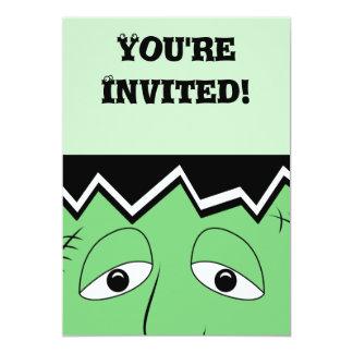 Cartoon Frankenstein Monster Face 13 Cm X 18 Cm Invitation Card